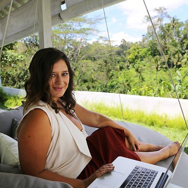 Melissa working in Bali