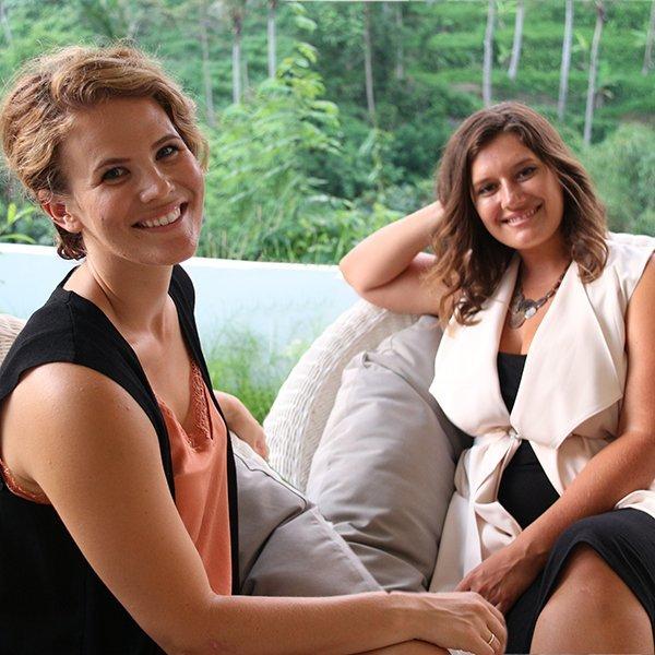 Jenna Ward and Melissa Sandon in Bali