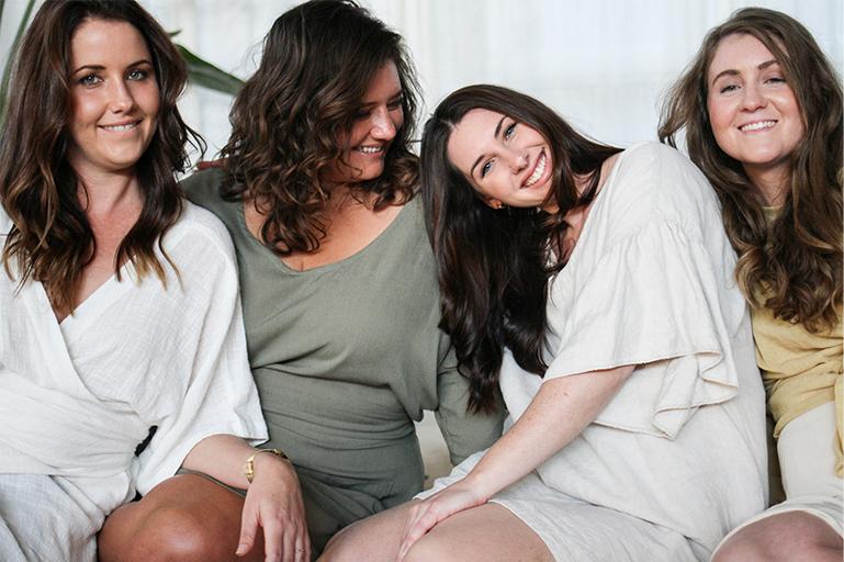 Claire, Melissa and Hazel